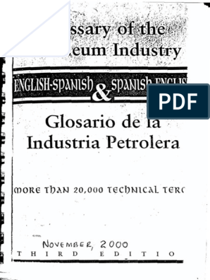 216009829 Diccionario Petrolero Pdf Materials Chemical