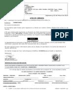 Modelo Carta PD1 Cajamarca