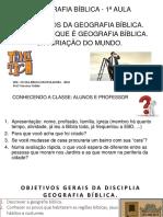 1- Geografia Bíblica - 1ª Aula