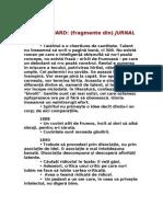 JULES RENARD - (Fragmente Din) Jurnal