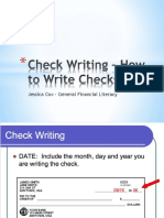 writing checks