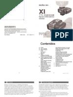 Manual de Funciones Godox X1 Para CANON