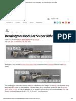 Remington Modular Sniper Rifle (MSR) - The Firearm BlogThe Firearm Blog