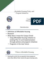 City of Corpus Christi Affordable Housing presentation