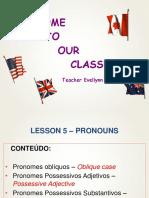 Lesson 5- English Class