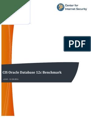 CIS Oracle Database 12c Benchmark v2 0 0 | Oracle Database