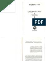 Intervenciones y Textos 2 - Lacan