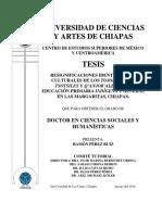 Resignificaciones identitarias y culturas de los Tojolab'ales, Tsotsiles y Q'anjob'ales en la educacación primaria indígena y general en las Margaritas, Chiapas.
