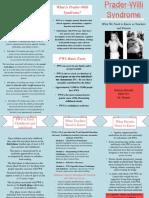 Intellectual Disabilties Brochure - Prader-Willi Syndrome