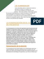 Iniciactiva de Humanizacion