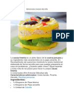Peruvian Causa Recipe