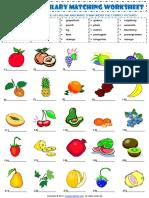 food fruit vocabulary matching exercise worksheet.pdf