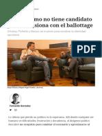El Peronismo No Tiene Candidato Pero Se Ilusiona Con El Ballottage