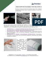 Catálogo de DESMOPUR, SCV para espuma de poliuretano Flexible y Viscoelástica.