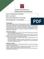 Trad - Lengua Inglesa II - Bertolo - Hreljac - 1º 2017 - Cohorte 2016