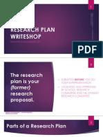 Writeshop - Research Plan