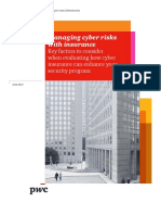 Pwc Managing Cyber Risks With Insurance