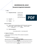 Informe Caja Automática Mitsubishi Lancer 2014