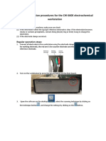 instruction chi electrochemical workstation