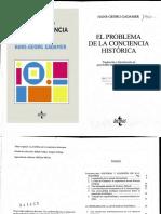 Gadamer Hans Georg - El Problema de La Conciencia Histórica