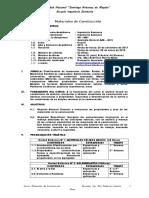 Syllabus de Materiales de Construccion (2017-2)