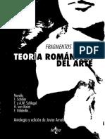 Novalis Et Alii (Comp.) (1994). Fragmentos Para Una Teoría Romántica Del Arte 2ª