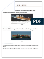 Ships Types