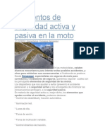 Elementos de Seguridad Activa y Pasiva en La Moto