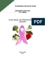 Plan Anual Cancer