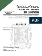 Reglamento de Transito Del Municipio de San Luis Potosi