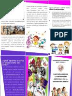 Brochure Educacion Artistica