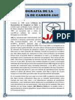Biografia de Marca de Carros JAC