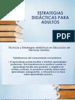 Estrategias Didácticas Para Adultos