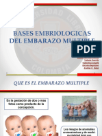 Bases Embriologicas Del Embarazo Multiple Final