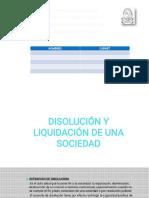 Disolucion y Liquidacion de Sociedades Equipo 10