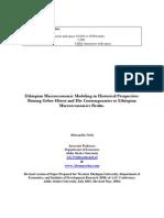 Ethiopian Macroeconomic Modeling