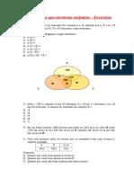 3 - Exercícios - Problemas com conjuntos.doc