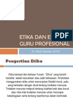 Etika Dan Estetika Guru Profesional