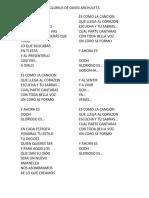 Glorioso Letra de David Archuleta