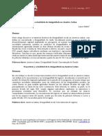 Trajetória e Atualidade Da Desigualdade Na América Latina