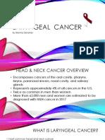 laryngeal cancer powerpoint finalllll