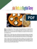 Palak Malai Kofta in Mughlai Gravy
