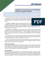 Topcon ClearEdge3D Acquisition Press Release