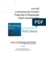 The 400 Investment Banking Interview Questions