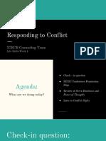 week 4  responding to conflict