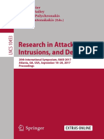 (Security and Cryptology 10453) Marc Dacier, Michael Bailey, Michalis Polychronakis, Manos Antonakakis (Eds.)-Research in Attacks, Intrusions, And Defenses_ 20th International Symposium, RAID 2017, At (1)