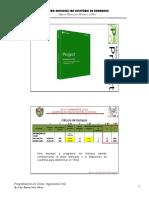 Programación de obras Ms Project Planeamiento