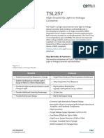 TSL257 - Sensor de Luz - hoja de datos