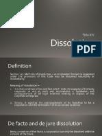 CorpoReport Dissolution REPORT