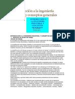 1 Introducción a La Ingeniería Industrial y Conceptos